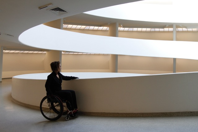 A Woman in a Wheelchair at MOMA